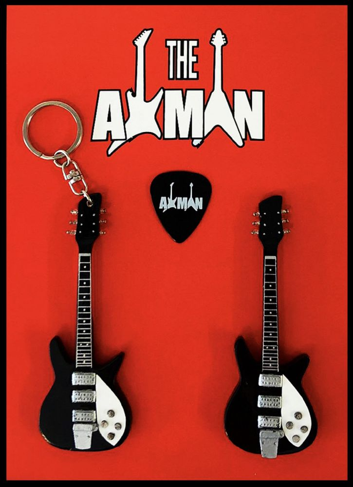(The Beatles) John Lennon: Rickenbacker - Keyring & Magnet Variation